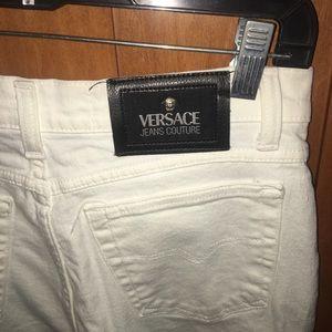 Versace high waisted white pants